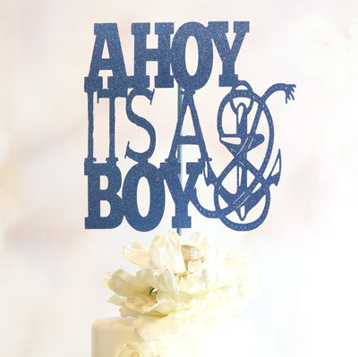 Ahoy It's A Boy Cake Topper