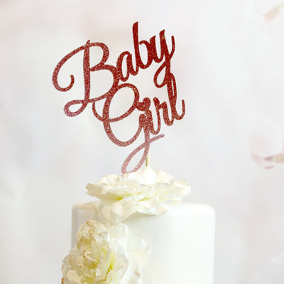 Baby Girl Cake Topper - Memory Keepsake Parties