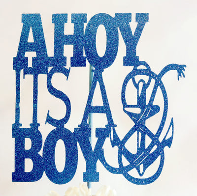Ahoy It's A Boy Cake Topper - Memory Keepsake Parties