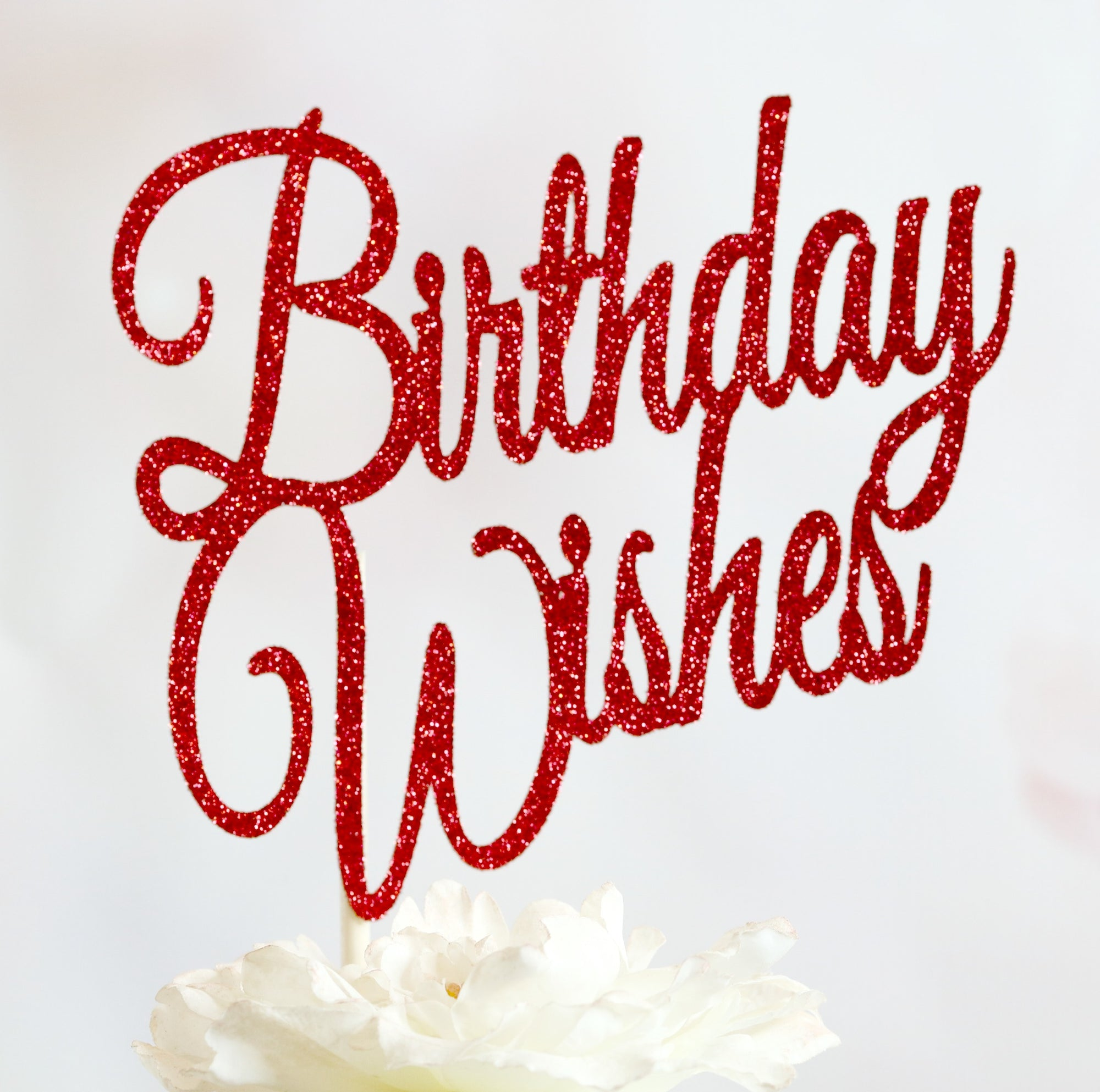 Birthday Wishes Cake Topper