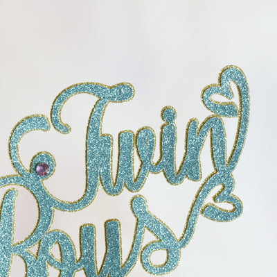 Twin Boys Cake Topper