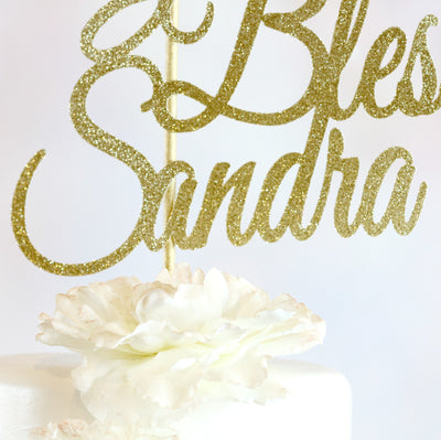 God Bless Cake Topper