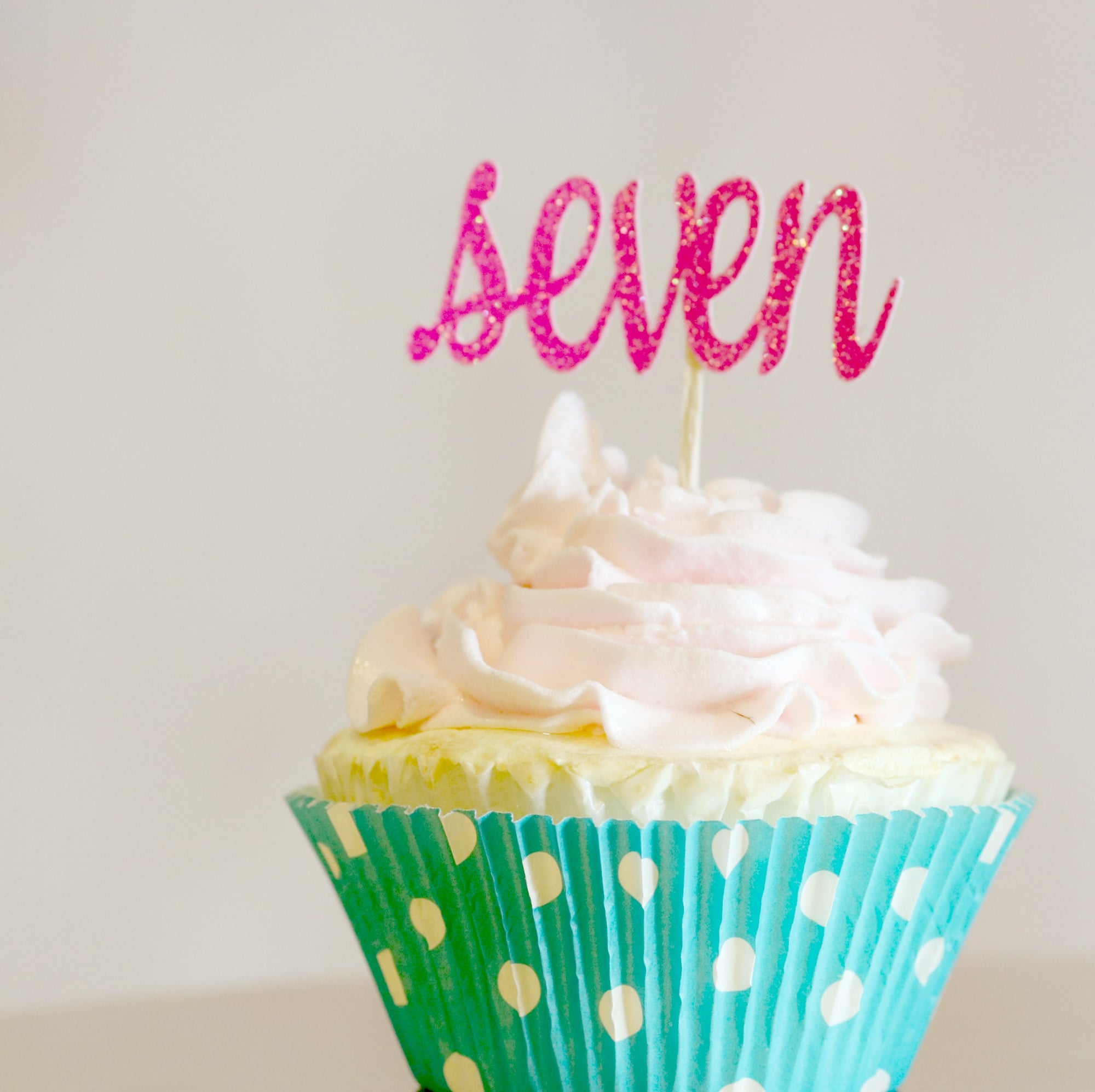 7th Birthday Cupcake Toppers - Memory Keepsake Parties