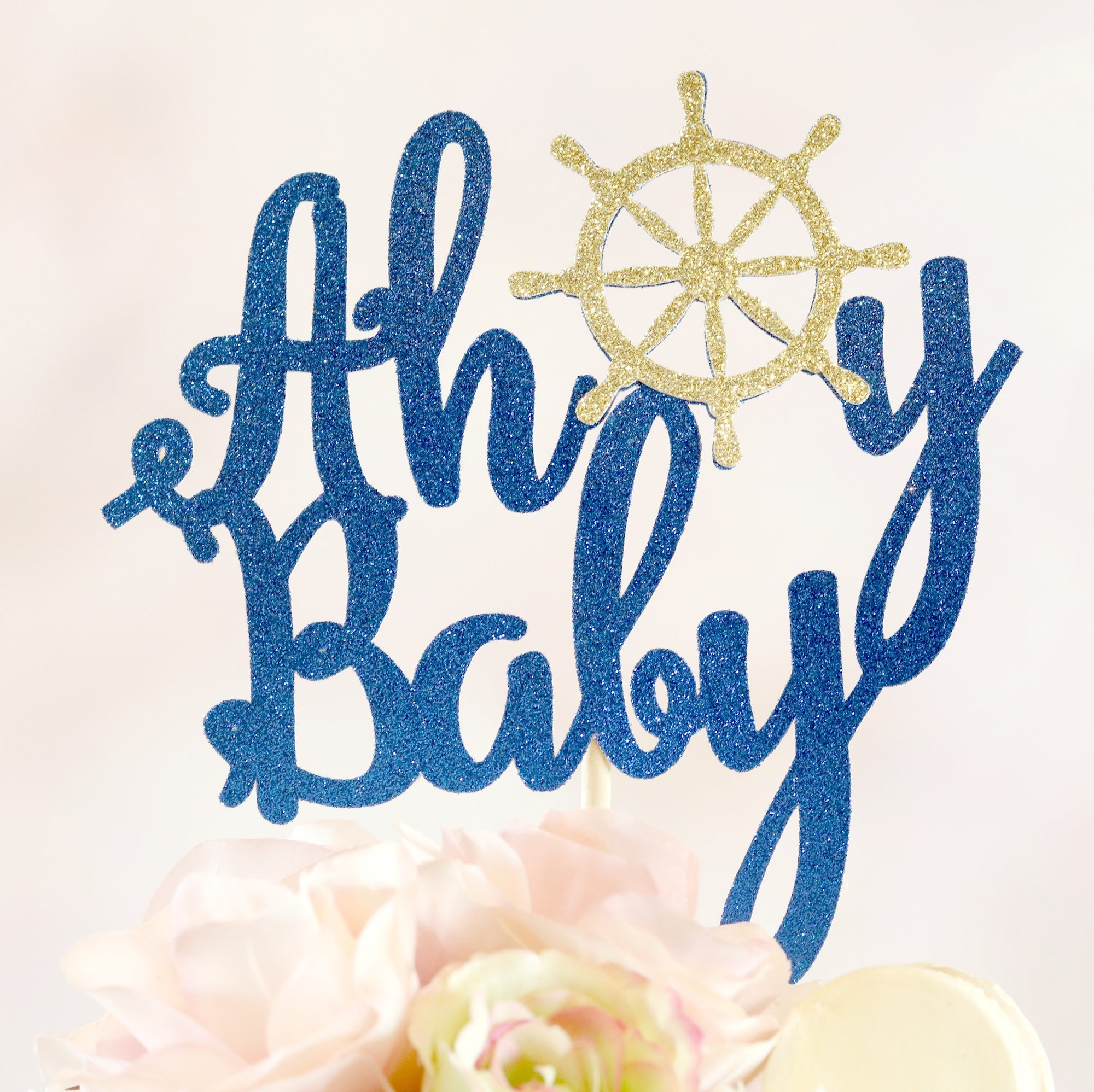 Ahoy Baby Cake Topper