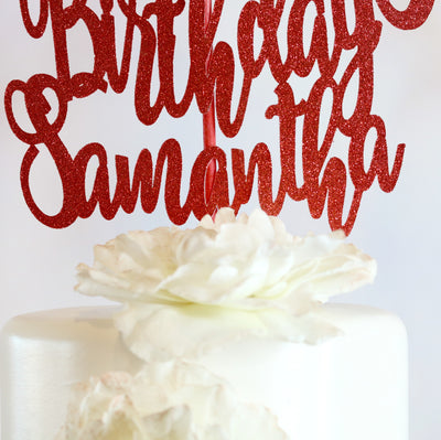 13th Birthday Cake Topper - Memory Keepsake Parties