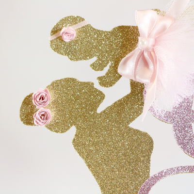It's a Girl Ballerina Cake Topper