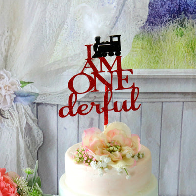 Onederful Train Birthday Cake Topper