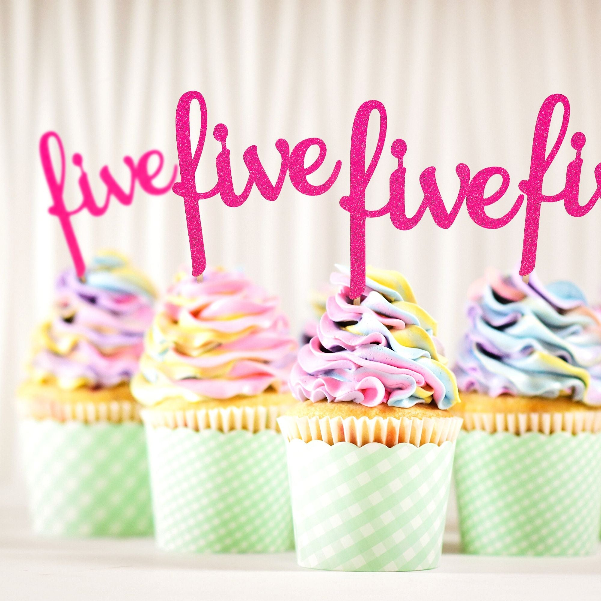 5th Birthday Cupcake Toppers