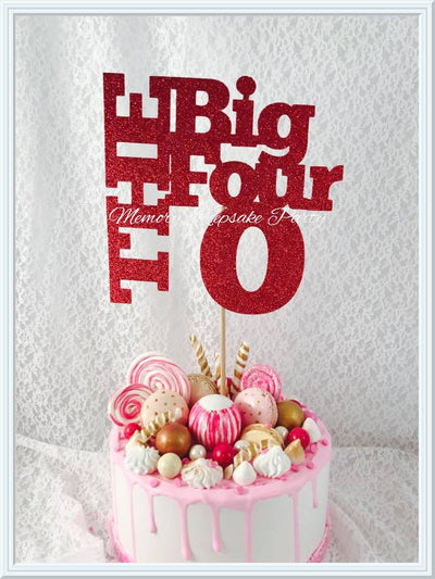 The Big Four 0 Cake Topper