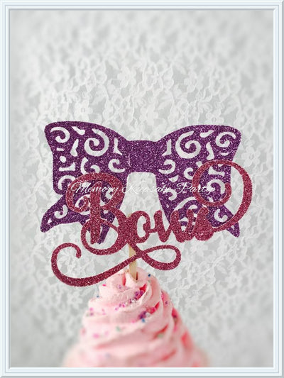 Bows or Arrows Cupcake Toppers