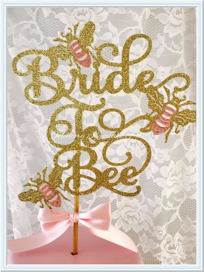 Bride To Bee Cake Topper