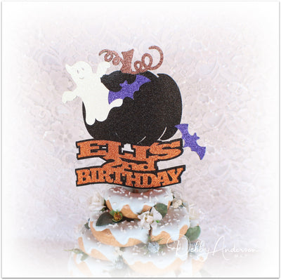 Halloween Birthday Cake Topper