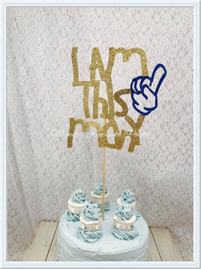 I Am This Many Cake Topper