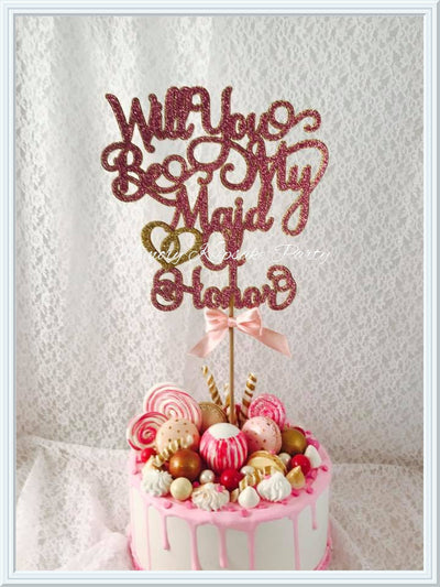 Maid Of Honor Cake Topper
