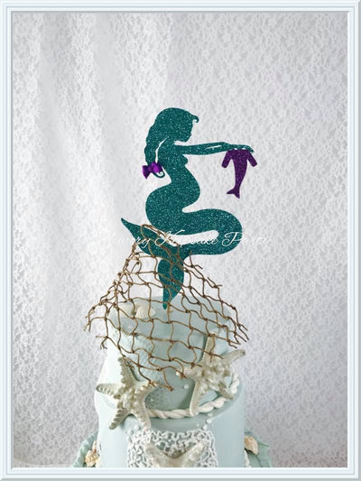 Pregnant Mermaid Cake Topper