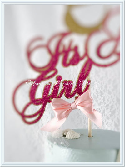 Its A Girl Mermaid Cake Topper