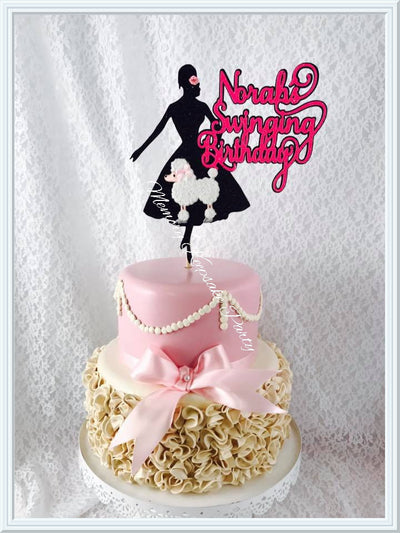 Fifties Cake Topper