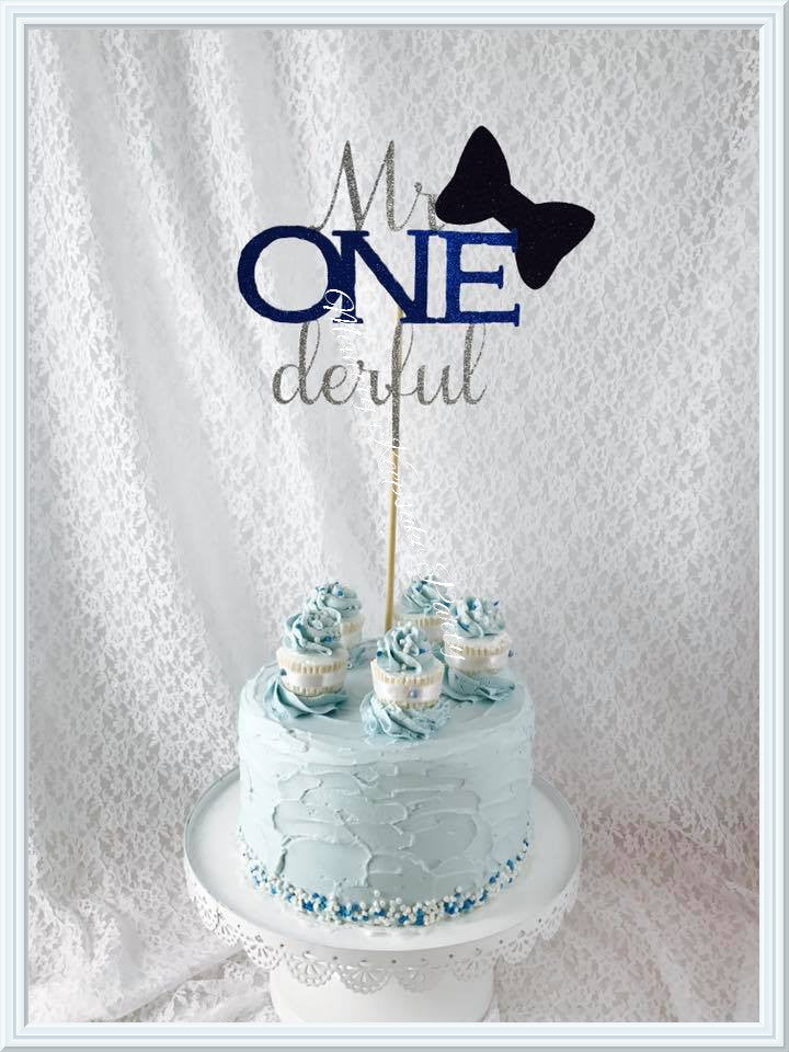 Mr Onederful Cake Topper - Memory Keepsake Parties