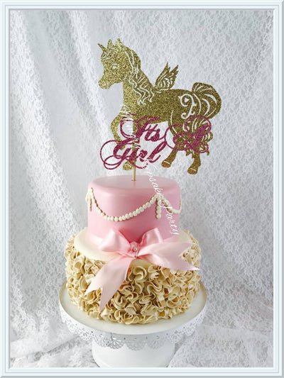 Its A Girl Unicorn Cake Topper