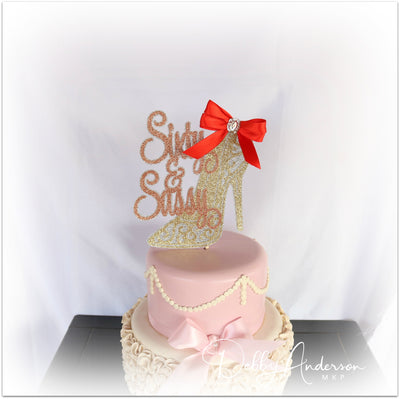 Sixty And Sassy Cake Topper
