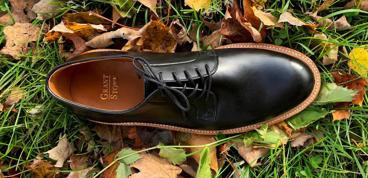 Grant Stone Black Calf Leather Blucher Pre-Order