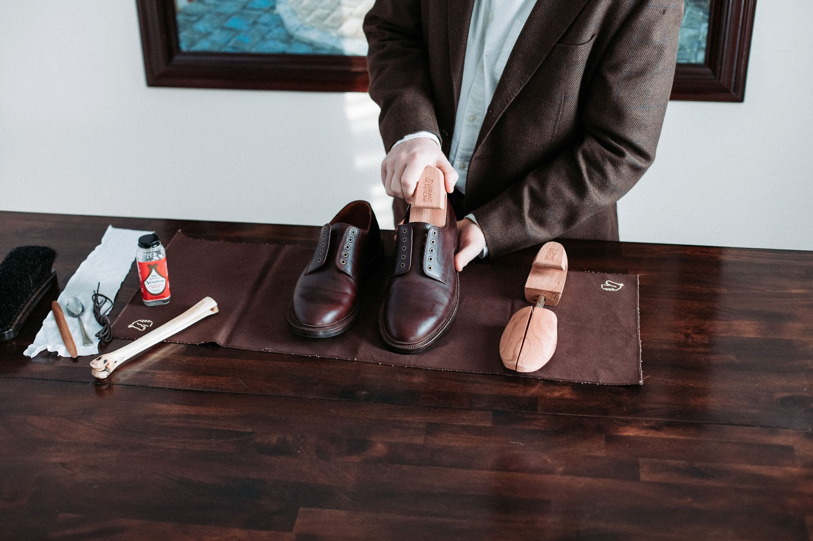Grant Stone Cedar Shoe Trees - Shoe Care