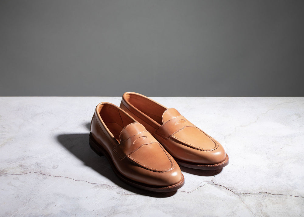 Traveler Penny Honey Glazed Shell Cordovan