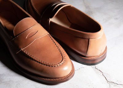 Pre-order - Traveler Penny Honey Glazed Shell Cordovan