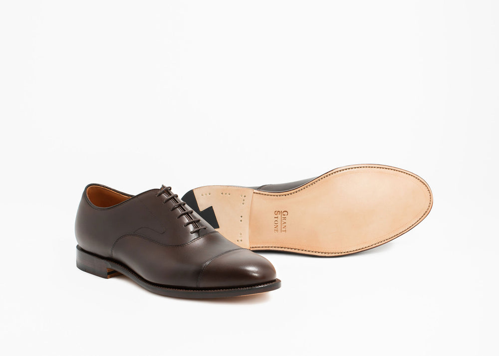 Cap Toe Oxford - Chocolate Antique Calf