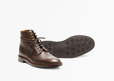 Cap Toe Boot Chocolate Antique Calf