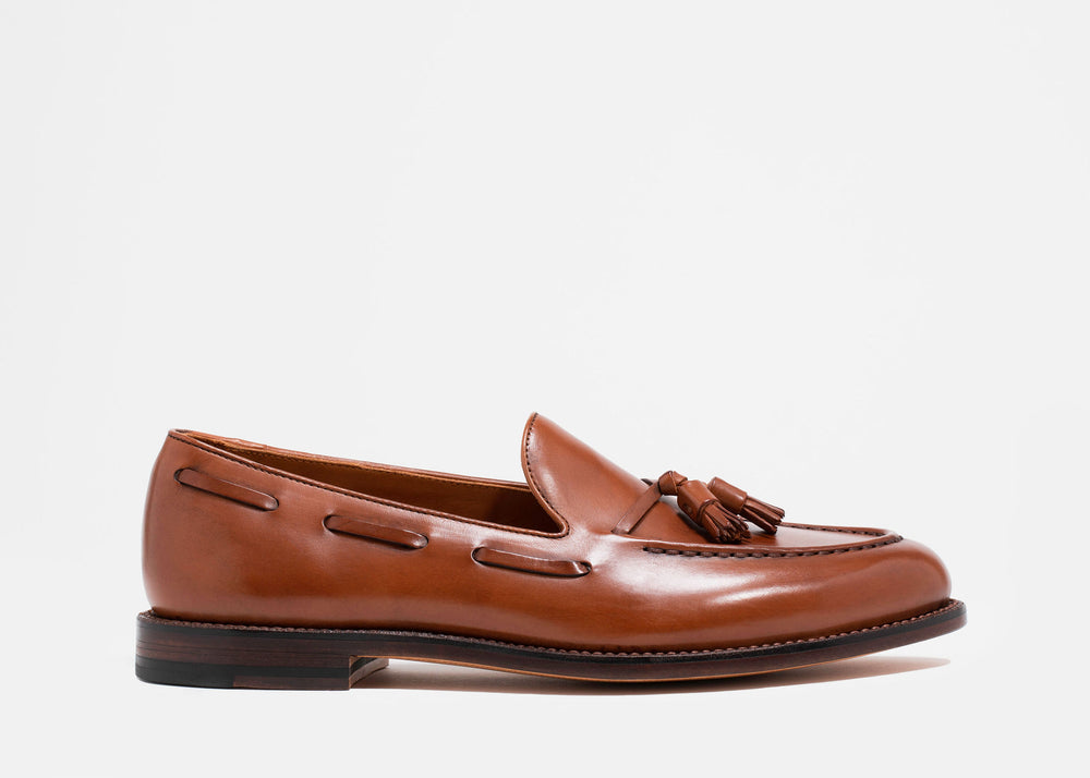 Tassel Loafer Chestnut Calf