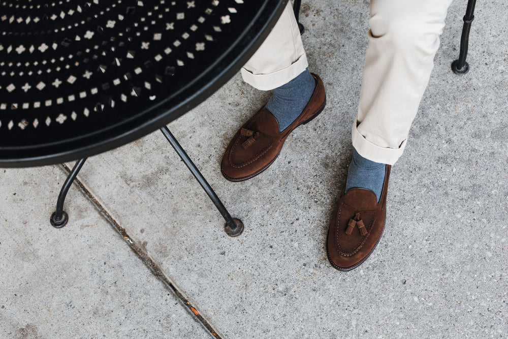 Tassel Loafer Coffee Suede