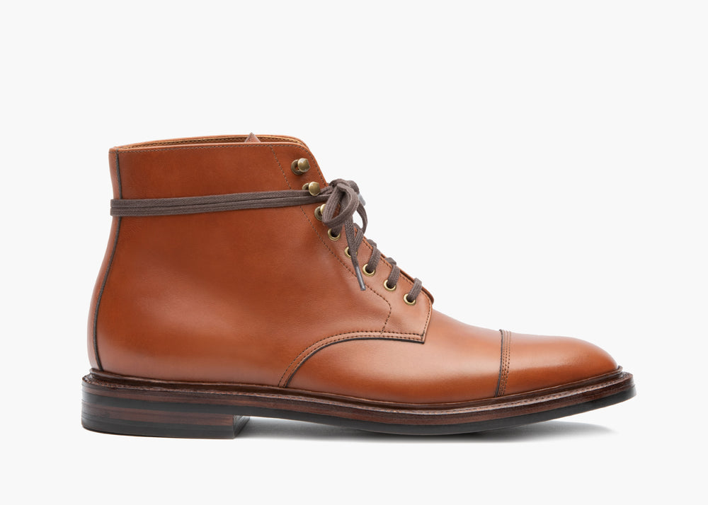 Cap Toe Boot British Tan Calf