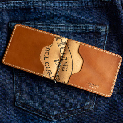 Ashland Capone Money Clip - Natural Shell Cordovan