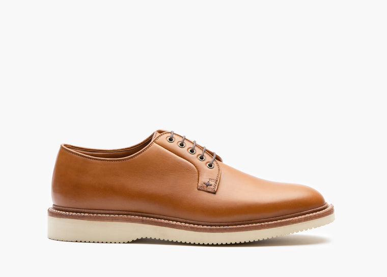 Plain Toe Saddle Tan Veg / Cavity Wedge Sole