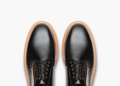 Plain Toe Black French Calf