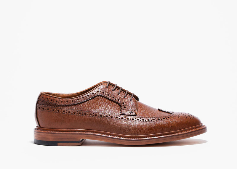 Longwing Cognac Pebble Grain