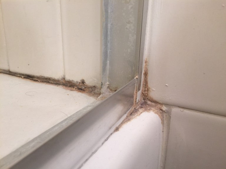 Shower caulk and silicone removal