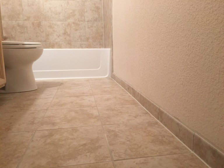 Bathroom renovation with Super Grout Additive