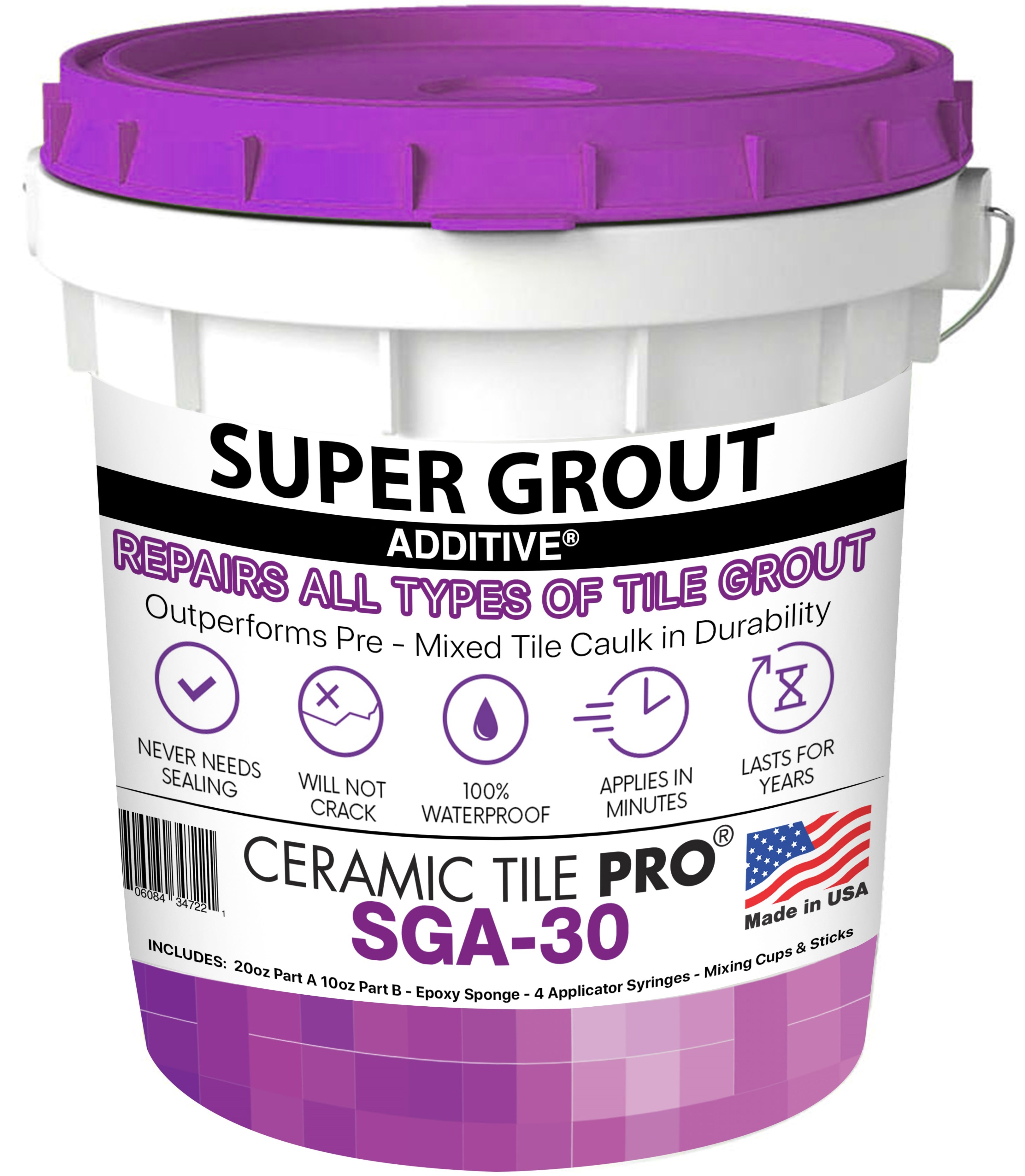Super Grout Additive SGA 30 with epoxy sponge