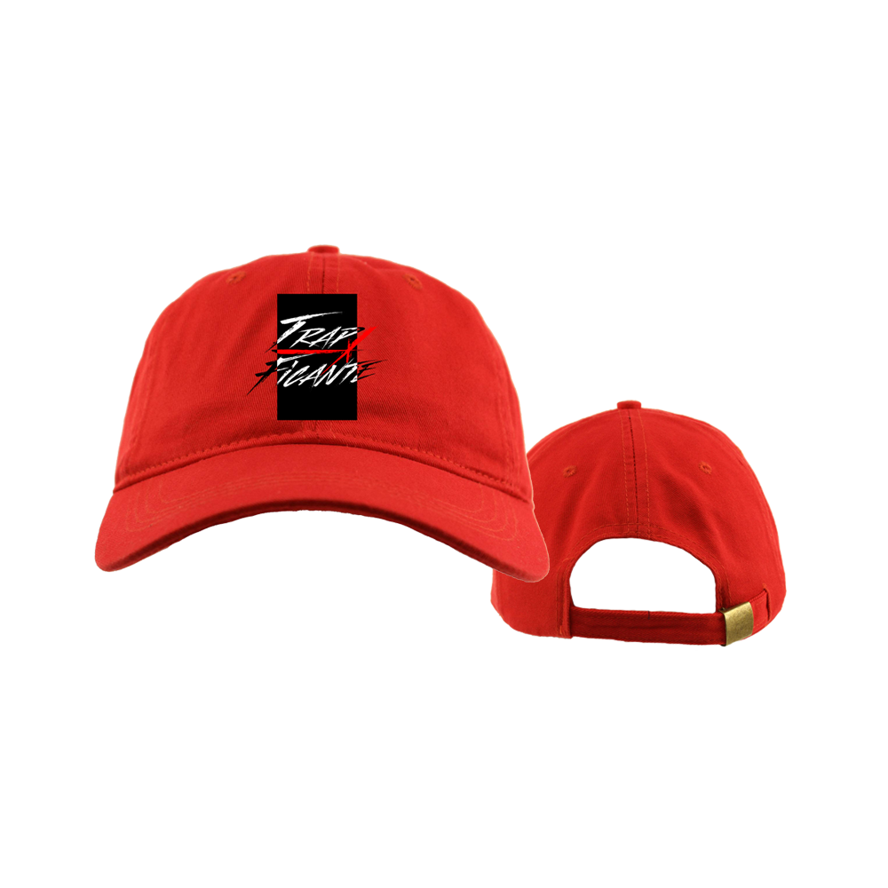 TrapFicante Dad Hat (Red/Black Box)