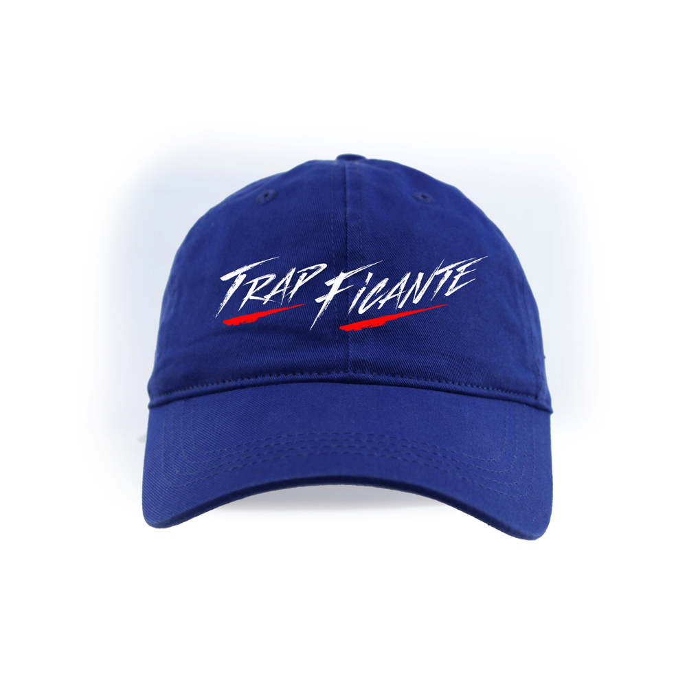 TrapFicante Dad Hat (Royal Blue/White/Red)