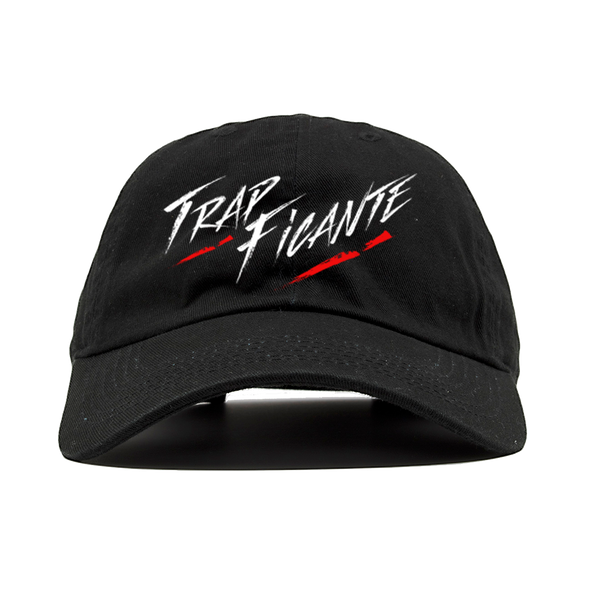TrapFicante Dad Hat (Black/White/Red)