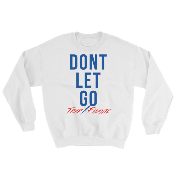 Don't Let Go Sweater (White/Royal Blue)