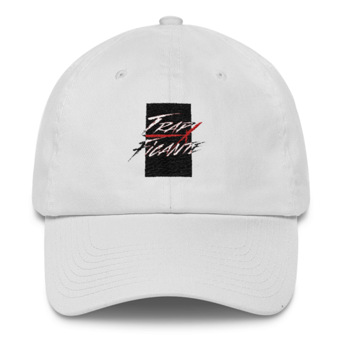 TrapFicante Dad Hat (White/Black Box)
