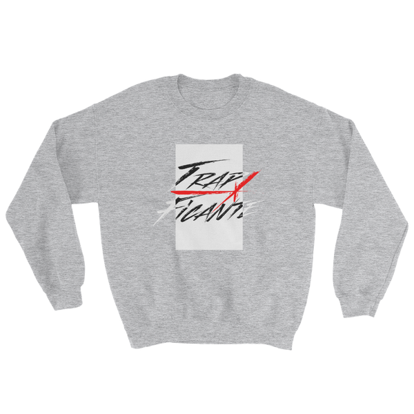 Trap Crew Neck Sweater (Grey/White Rec)