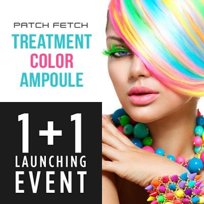 PATCH FETCH, treatment, hair, color ampule, hair color treatment, hair ampoule, hair color, temporary hair dye