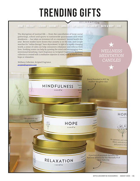 Gifts & Accessories Magazine Soy Candles Scripted Fragrance