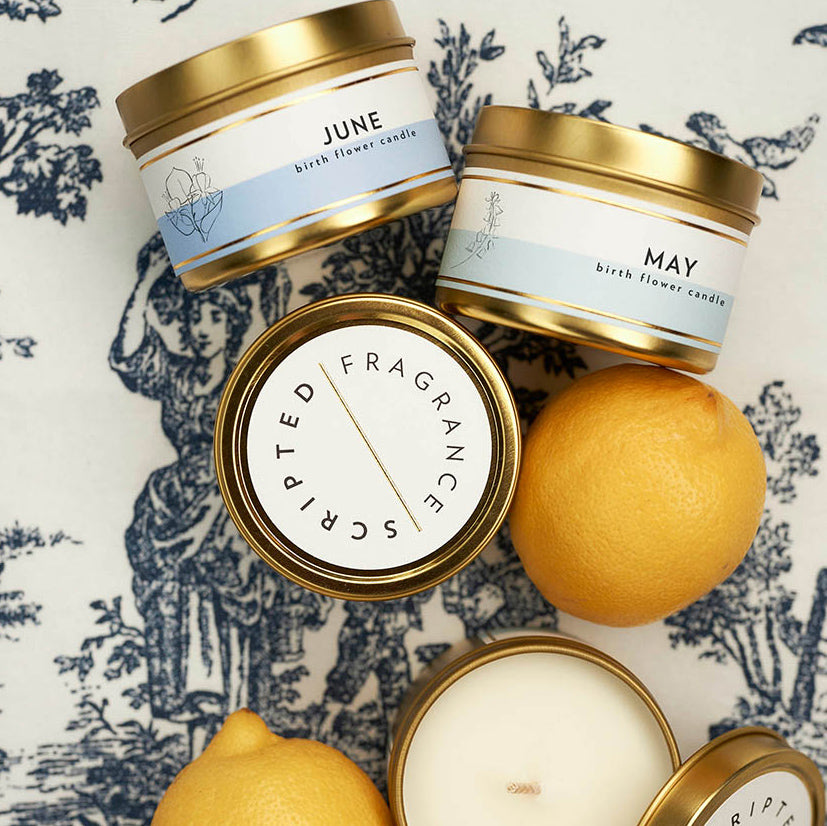 Scripted Fragrance Soy Candles Wedding Favors Candle Special Corporate Event Candle_Birth Flower Birth Month Candles_June May July Summer