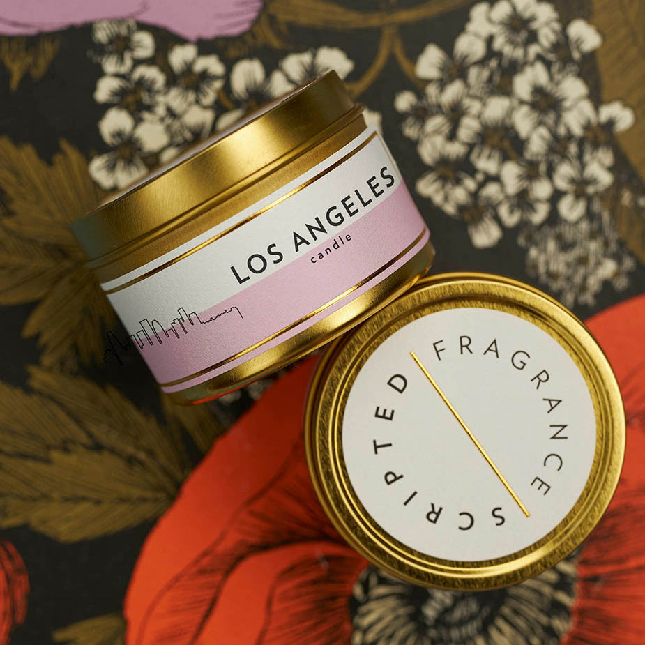 Scripted Fragrance Soy Candles Wedding Favors Candle Special Corporate Event Candle_State City Candles_Los Angeles California